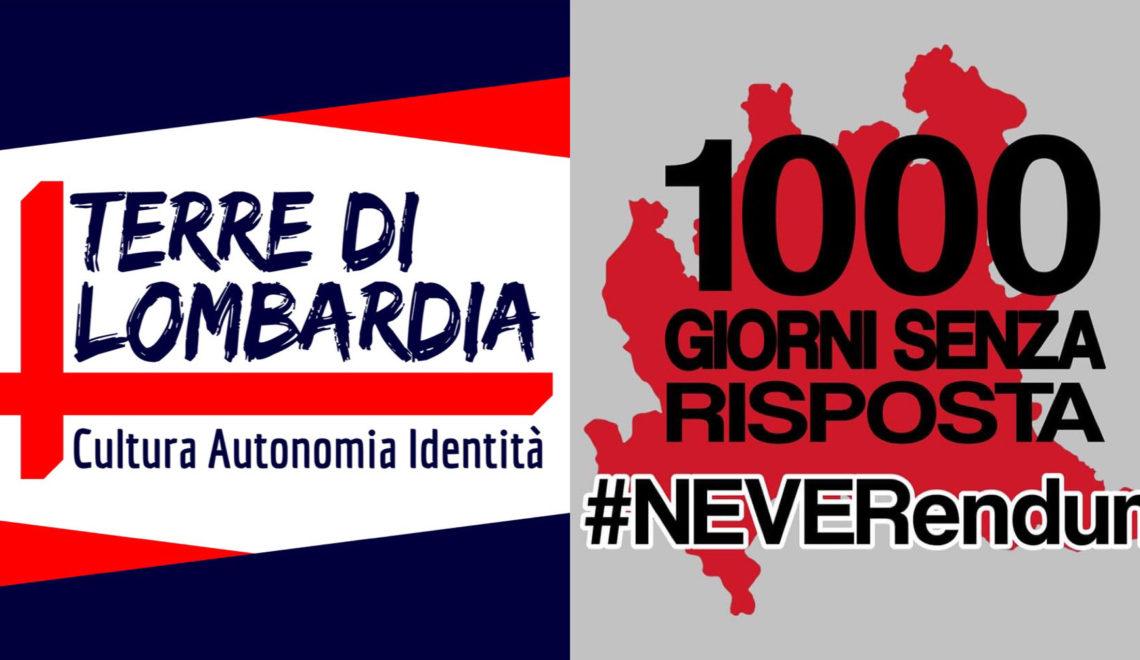 """Terre di Lombardia aderisce a: """"#NEVERendum, 1.000 giorni senza risposta"""""""